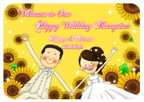 結婚式,ウェルカムボード,似顔絵,サイズ,オーダーメイド